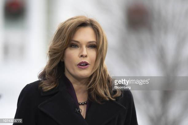 Mercedes Schlapp White House director of strategic communications speaks during an interview outside the White House in Washington DC US on Monday...