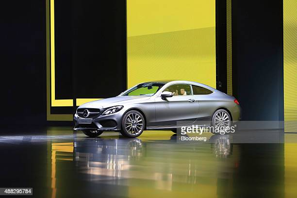 A Mercedes SClass coupe luxury automobile produced by MercedesBenz AG is presented at the IAA Frankfurt Motor Show in Frankfurt Germany on Tuesday...