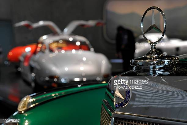 A Mercedes star is pictured at the MercedesBenz Museum in Stuttgart southern Germany on July 27 2011 For the 125th anniversary of the automotive...