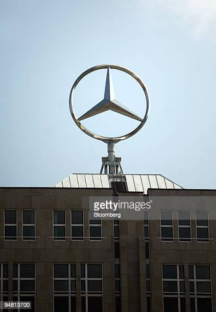 Mercedes star spins atop the headquarters of DaimlerChrysler in Stuttgart Germany Saturday March 18 2006 BadenWuerttemberg home to companies...