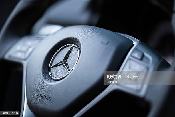 mercedes steering wheel - mercedes benz stock pictures, royalty-free photos & images