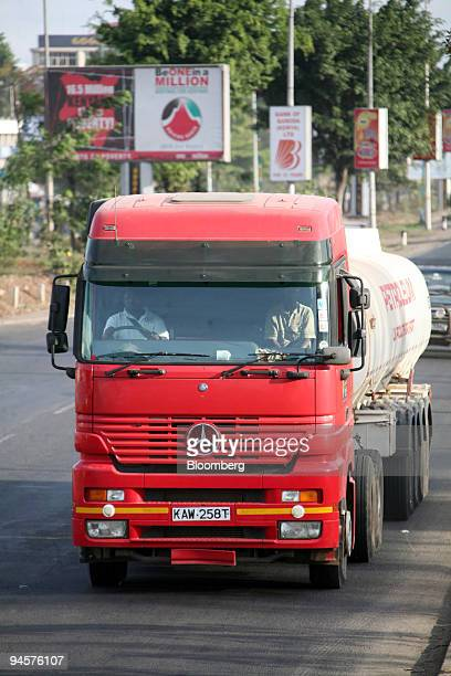 Mercedes truck moves along Mombasa Road in Nairobi Kenya on Saturday Oct 20 2007 Founded in 1887 to import raw materials and exotic spices from...