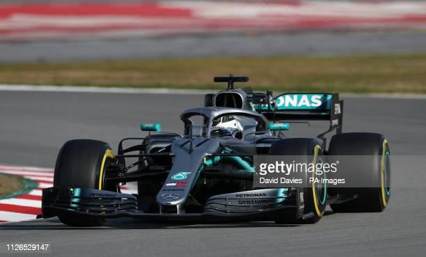 Mercedes' Valtteri Bottas during day four of preseason testing at the Circuit de BarcelonaCatalunya