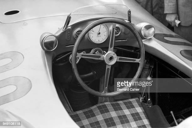 Mercedes W196 Grand Prix of France ReimsGueux 04 July 1954 Cockpit of the 1955 Mercedes W196