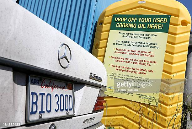 Mercedes with vanity plates sits in the parking lot at Dogpatch Biofuels on March 22, 2013 in San Francisco, California. According to a report by San...