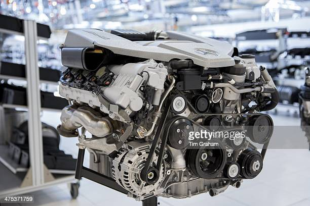 MercedesAMG engine production factory in Affalterbach in Germany M156 63 litre V8 AMG engine on display