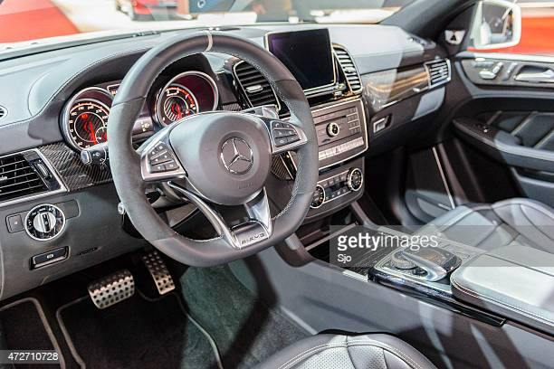 mercedes-amg gle 63 coupe crossover luxury interior - mercedes benz stock photos and pictures