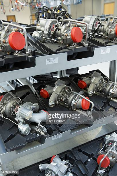 MercedesAMG GmbH engine production factory in Affalterbach in Bavaria Germany turbochargers ready for fitting