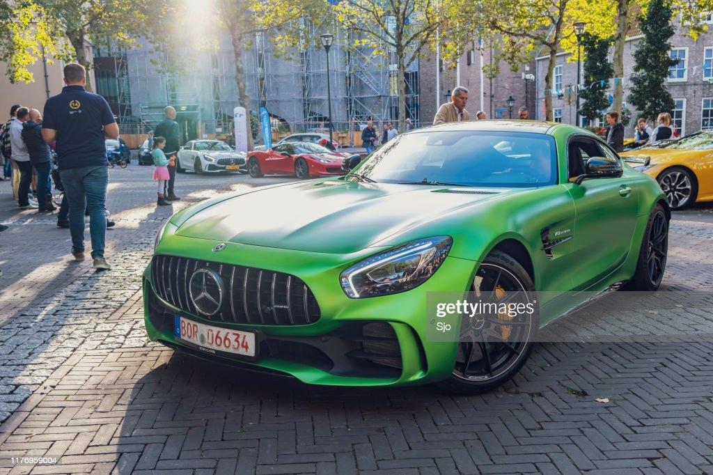 Coche deportivo Mercedes-AMG GT R : Foto de stock