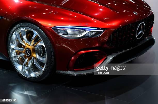 MercedesAMG is seen during Dubai Motor Show at Dubai World Trade Centre on November 15 2017 in Dubai United Arab Emirates