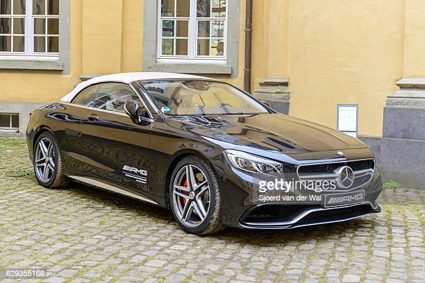 mercedes-amg s63 4m cabriolet luxury convertible car - mercedes benz s class stock photos and pictures