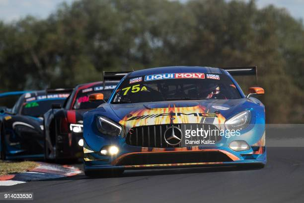 MercedesAMG Team SunEnergy1 Racing Mercedes AMG GT3 Kenny Habul Tristan Vautier Jamie Whincup Raffaele Marciello drives during the 2018 Bathurst 12...