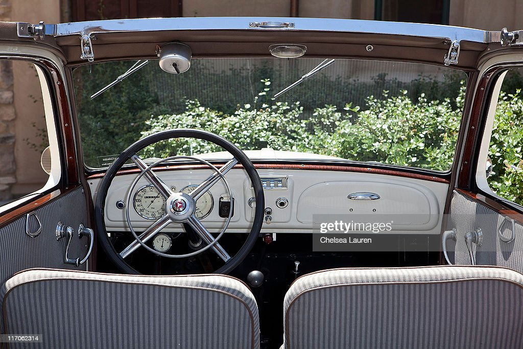 A Mercedes-Benz 130 is showcased during the Mercedes-Benz Rear Engine Drive on May 19, 2010 in Laguna Beach, California.