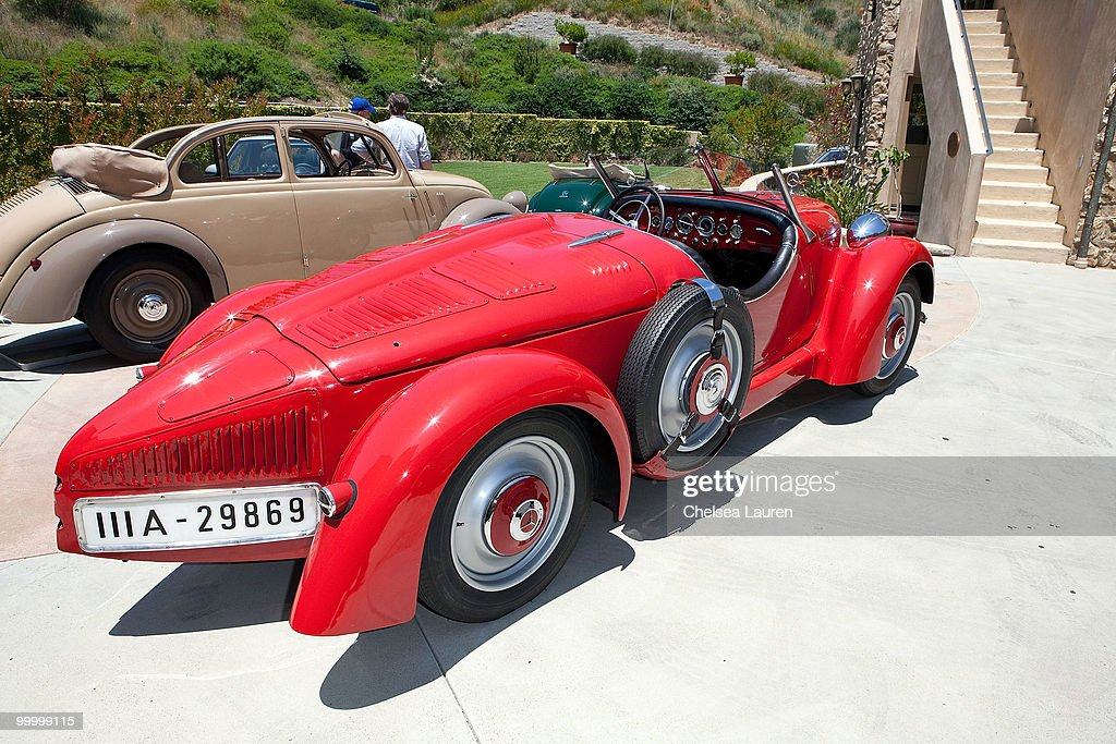 Mercedes-Benz 150 Sports Roadster is showcased during the Mercedes-Benz Rear Engine Drive on May 19, 2010 in Laguna Beach, California.