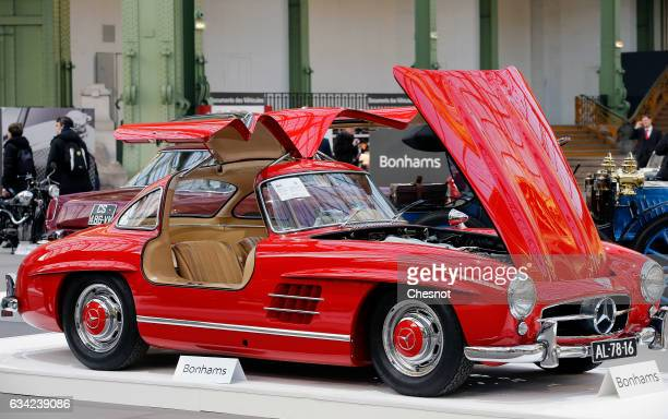 MercedesBenz 300 SL Butterfly 1955 is displayed during a press preview before a mass auction of vintage vehicles organised by Bonhams auction house...
