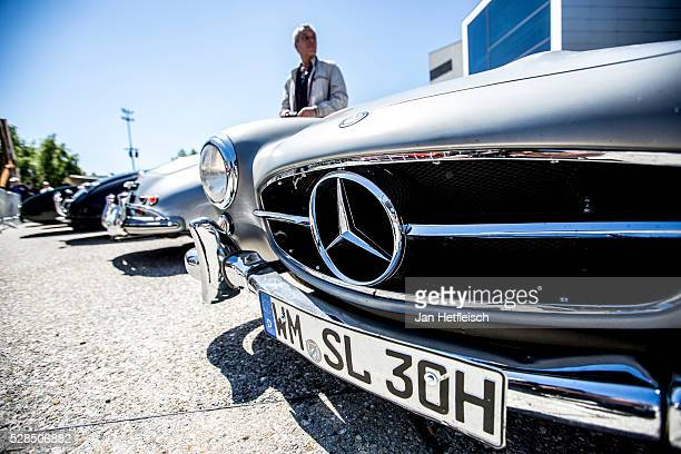 MercedesBenz 300 SL is seen at the 5th Bodensee Klassik rallye at Festspielhaus on May 5 2016 in Bregenz Austria