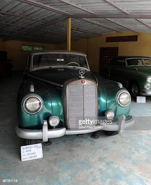 A MercedesBenz 300C from 1955 used by India's first President Rajendra Prasad on display at 'Auto World' car museum in Kathwada some 20kms from...