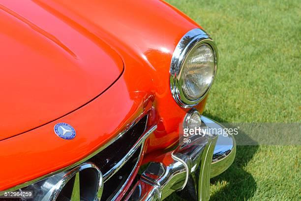 mercedes-benz 300sl gullwing detail - mercedes benz 300sl gullwing stock photos and pictures