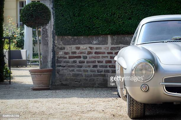 mercedes-benz 300sl gullwing detail - mercedes benz 300sl stock photos and pictures