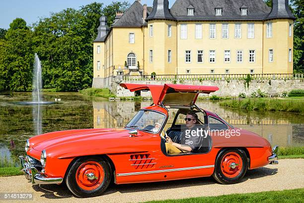 mercedes-benz 300sl gullwing - mercedes benz 300sl stock photos and pictures