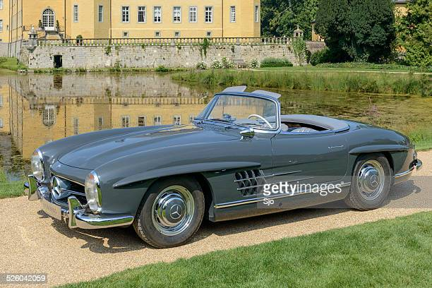 mercedes-benz 300sl roadster classic sports car - mercedes benz 300sl gullwing stock photos and pictures