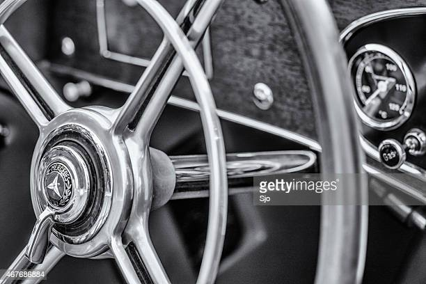 Mercedes-Benz 380K Roadster classic sports car steering wheel
