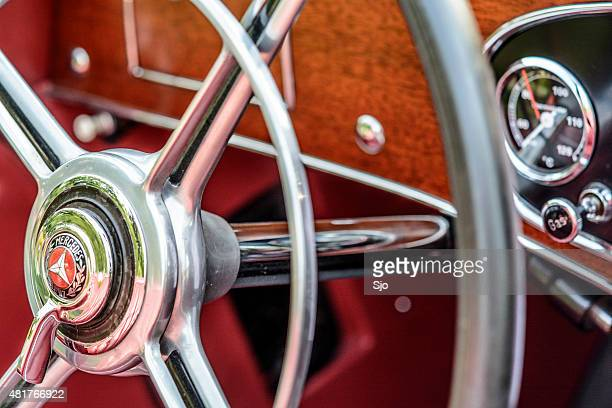 Mercedes-Benz 380K Roadster classic sports car steering wheel