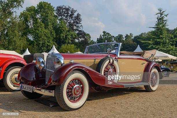 mercedes-benz 500k cabriolet classic car - concours stock photos and pictures