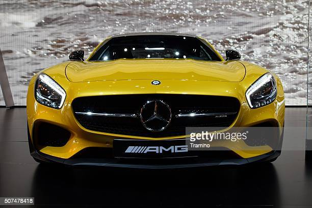 mercedes-benz amg gt s on the motor show - mercedes stock photos and pictures
