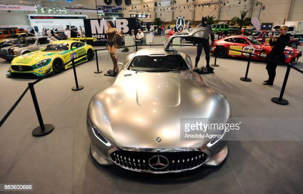 MercedesBenz AMG Vision Gran Turismo are displayed during a preview day at the Essen Motor Show in Essen Germany on December 01 2017 The annual car...