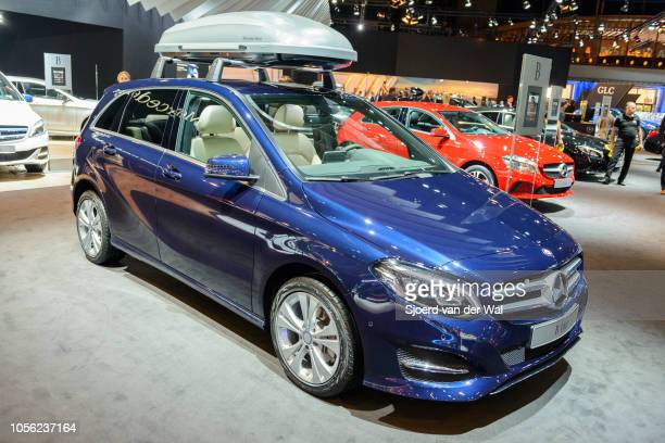MercedesBenz Bclass B 160 compact luxury MPV car on display at Brussels Expo on January 13 2017 in Brussels Belgium The second generation Bclass is...