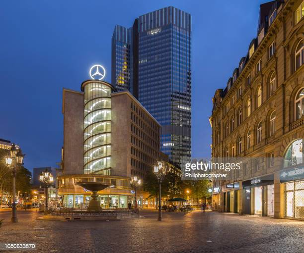 mercedes-benz building in frankfurt, germany - stuttgart stock pictures, royalty-free photos & images