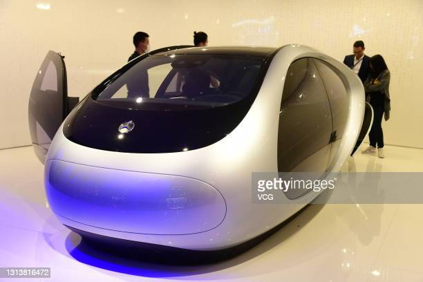 Mercedes-Benz car is on display during the 19th Shanghai International Automobile Industry Exhibition at National Exhibition and Convention Center on...