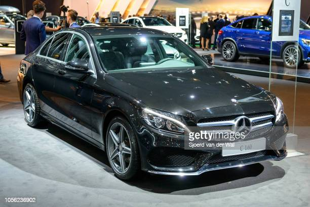 MercedesBenz Cclass C 160 sedan luxury compact car on display at Brussels Expo on January 13 2017 in Brussels Belgium The MercedesBenz CClass is...