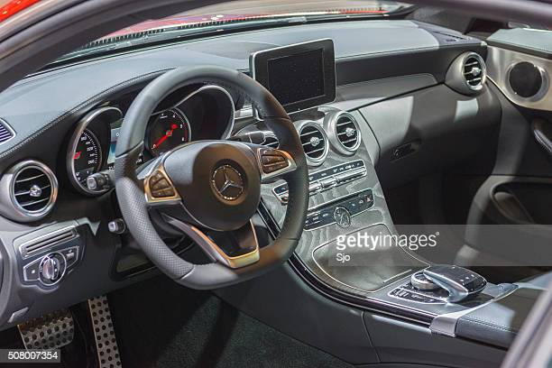 mercedes-benz c-class coupe interior - mercedes benz stock pictures, royalty-free photos & images