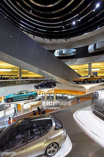 MercedesBenz concept cars in their museum gallery and showroom in Mercedesstrasse in Stuttgart Bavaria Germany