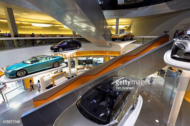 MercedesBenz concept cars in their museum gallery in Stuttgart Bavaria Germany