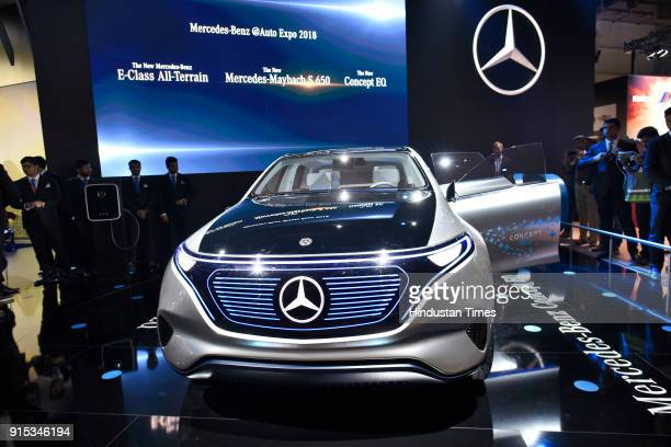 MercedesBenz Concept EQ showcased during Auto Expo 2018 motor show at the India Expo Mart on February 7 2018 in Greater Noida India The Expo will...