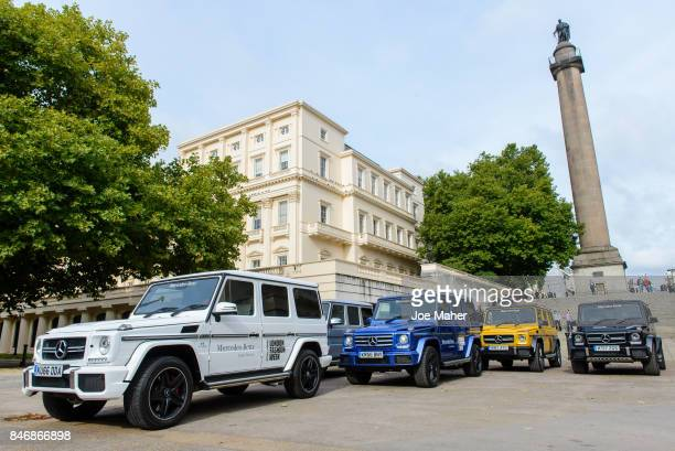 MercedesBenz continues as the official car partner for London Fashion Week for its 16th season supporting British fashion with GClass fleet at Portas...