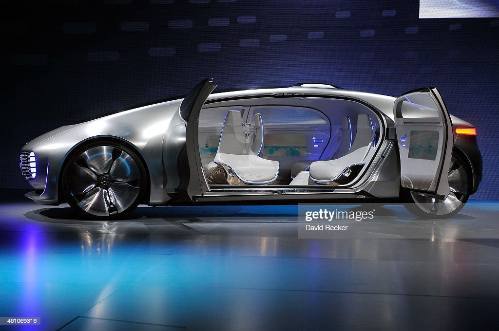 A Mercedes-Benz F 015 autonomous driving automobile is displayed at the Mercedes-Benz press event at The Chelsea at The Cosmopolitan of Las Vegas for the 2015 International CES on January 5, 2015 in Las Vegas, Nevada. CES, the world's largest annual consumer technology trade show, runs from January 6-9 and is expected to feature 3,600 exhibitors showing off their latest products and services to about 150,000 attendees.