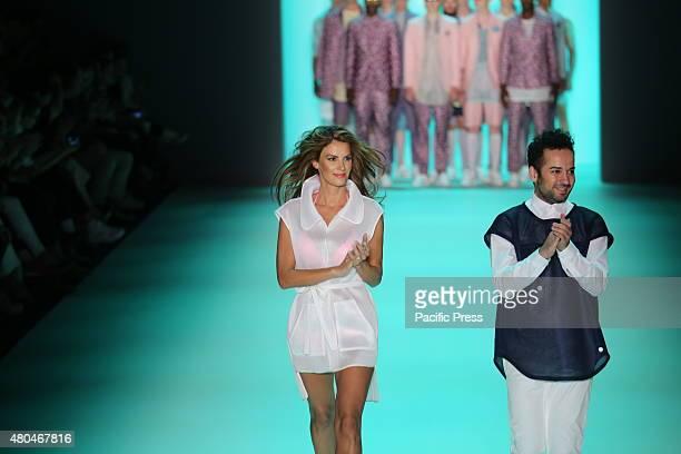 MercedesBenz Fashion Week Spring / Summer 2016 in Berlin A model presents the collection of Emre Erdemoglu