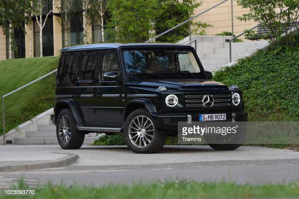 mercedes-benz g 500 on the street - mercedes benz g class stock pictures, royalty-free photos & images
