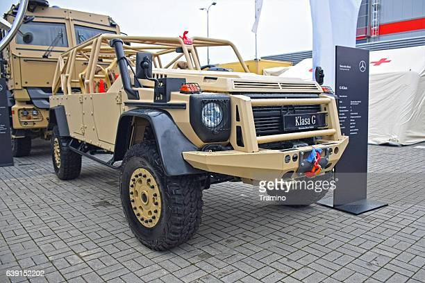 mercedes-benz g-class in military version - mercedes benz stock photos and pictures