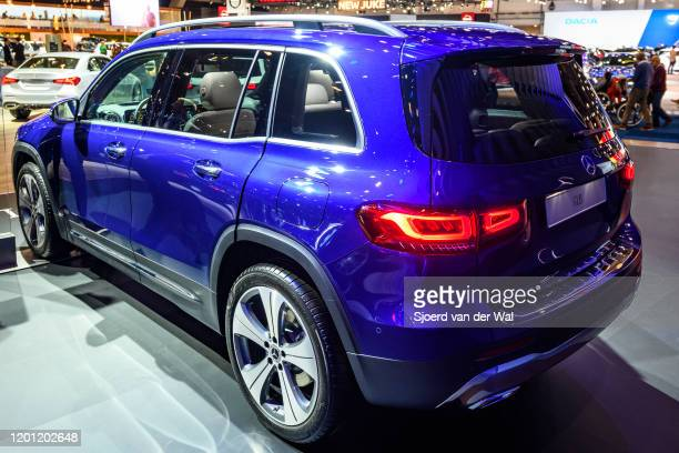 MercedesBenz GLB Class subcompact crossover SUV car on display at Brussels Expo on January 9 2020 in Brussels Belgium The new GLBclass can be...