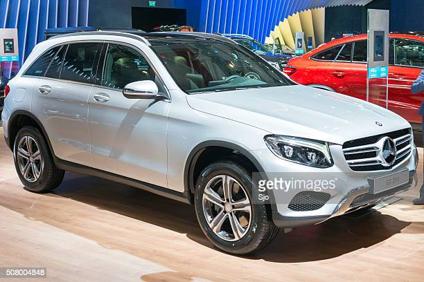 mercedes-benz glc-class compact suv - mercedes benz stock pictures, royalty-free photos & images
