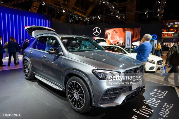 Mercedes-Benz GLE Class GLE 350 de 4Matic luxury crossover SUV car on display at Brussels Expo on January 9, 2020 in Brussels, Belgium. The new...