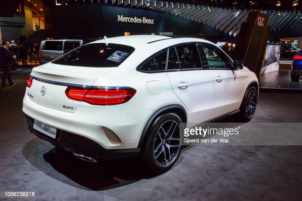 MercedesBenz GLEClass GLE 350 d 4MATIC Coupe crossover luxury SUV on display at Brussels Expo on January 13 2017 in Brussels Belgium The GLEClass...