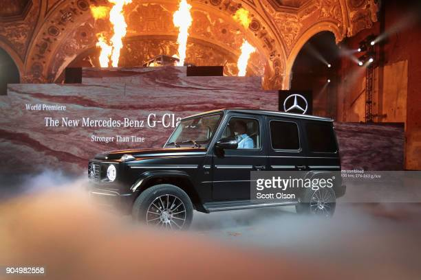 MercedesBenz introduces the 2019 GClass during a media preview at the North American International Auto Show in the historic Michigan Theater on...