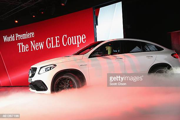 MercedesBenz introduces the GLE 63 Coupe at the North American International Auto Show on January 11 2015 in Detroit Michigan The auto show will open...