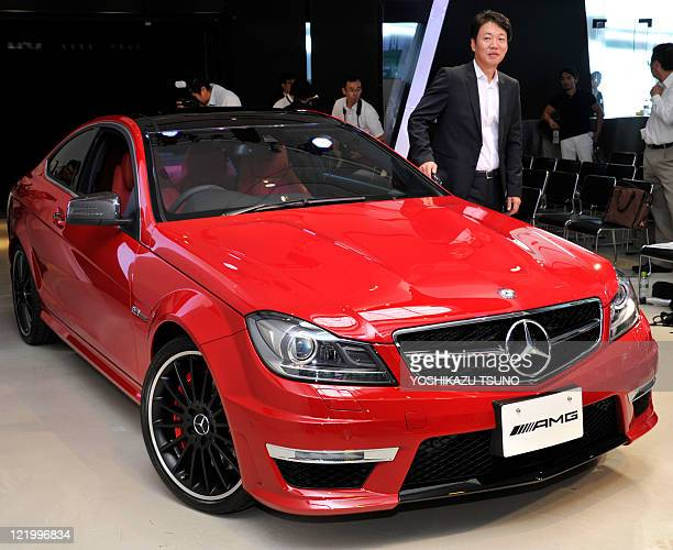 MercedesBenz Japan unveils the company's highperformance coupe 'C63 AMG coupe' in Tokyo on August 25 2011 The C63 AMG has a 457horsepower 63litre V8...
